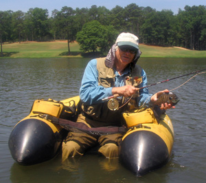 Dave Hughes with a big Callaway Gardens bluegill