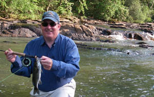 Gary with a Flint River shoal bass...