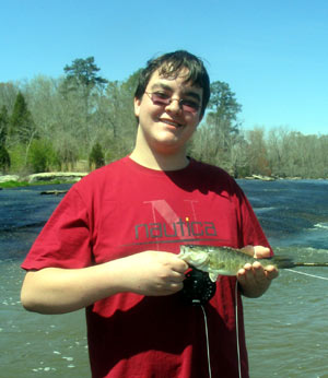 Matt with a Flint River shoal bass