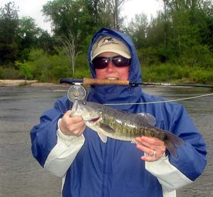 A nice shoal bass from the Flint River.