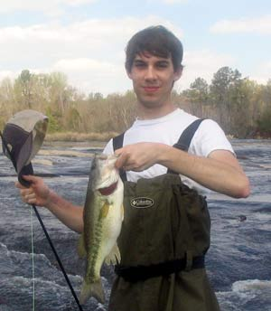 Flint River shoal bass on the fly